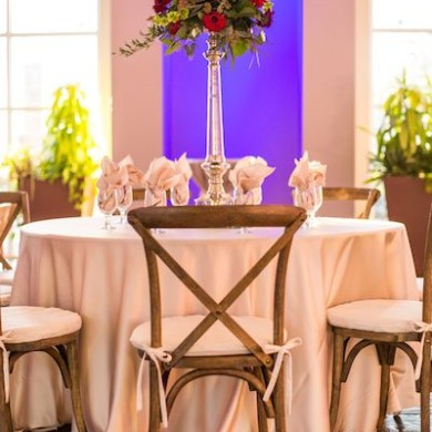 Table Decor for Weddings at Riverbanks