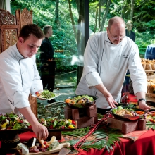 Corporate Event Menus at Riverbanks Zoo featuring local produce top of the line service