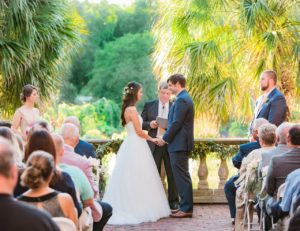 Garden wedding venue at Riverbanks Zoo and Gardens in Columbia