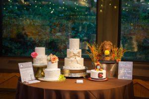 Custom wedding cake display from in-house wedding planner