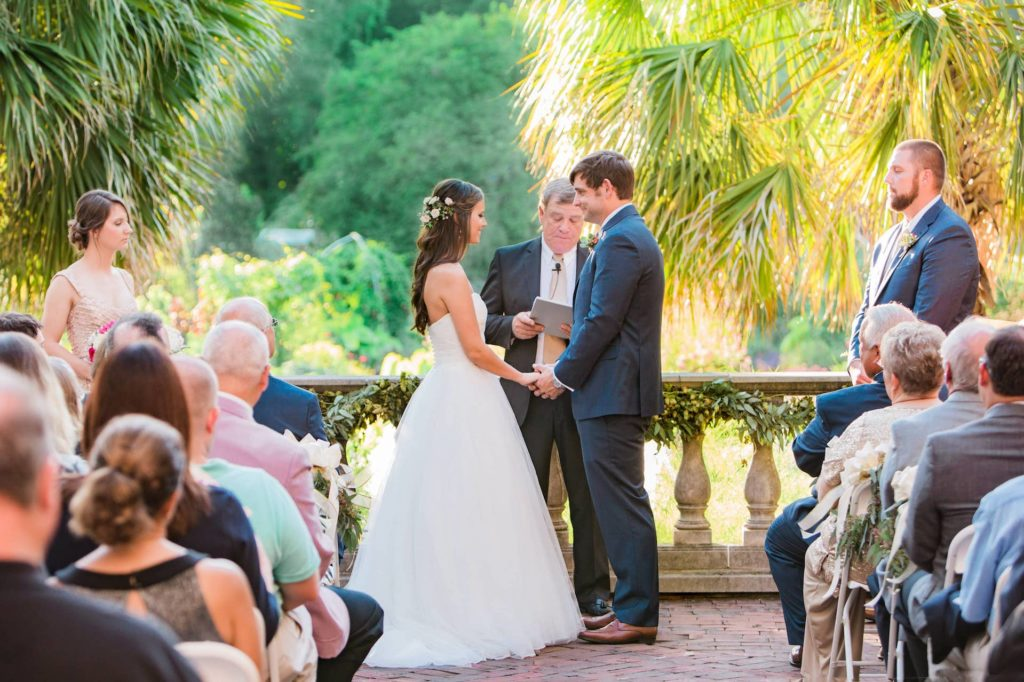 exotic outdoor garden wedding ceremony venue in Columbia, SC