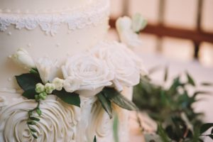 Bonnie Brunt Wedding Cake for Riverbanks Zoo Wedding in Columbia, SC - photographed by Jessica Roberts Photography