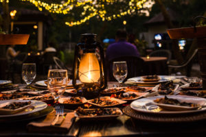 The Ndoki Patio is perfect for an outdoor wedding dinner in Columbia, South Carolina.