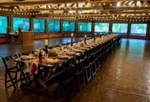 Columbia SC Event Venue Ndoki Lodge - Kings Table set Family Style