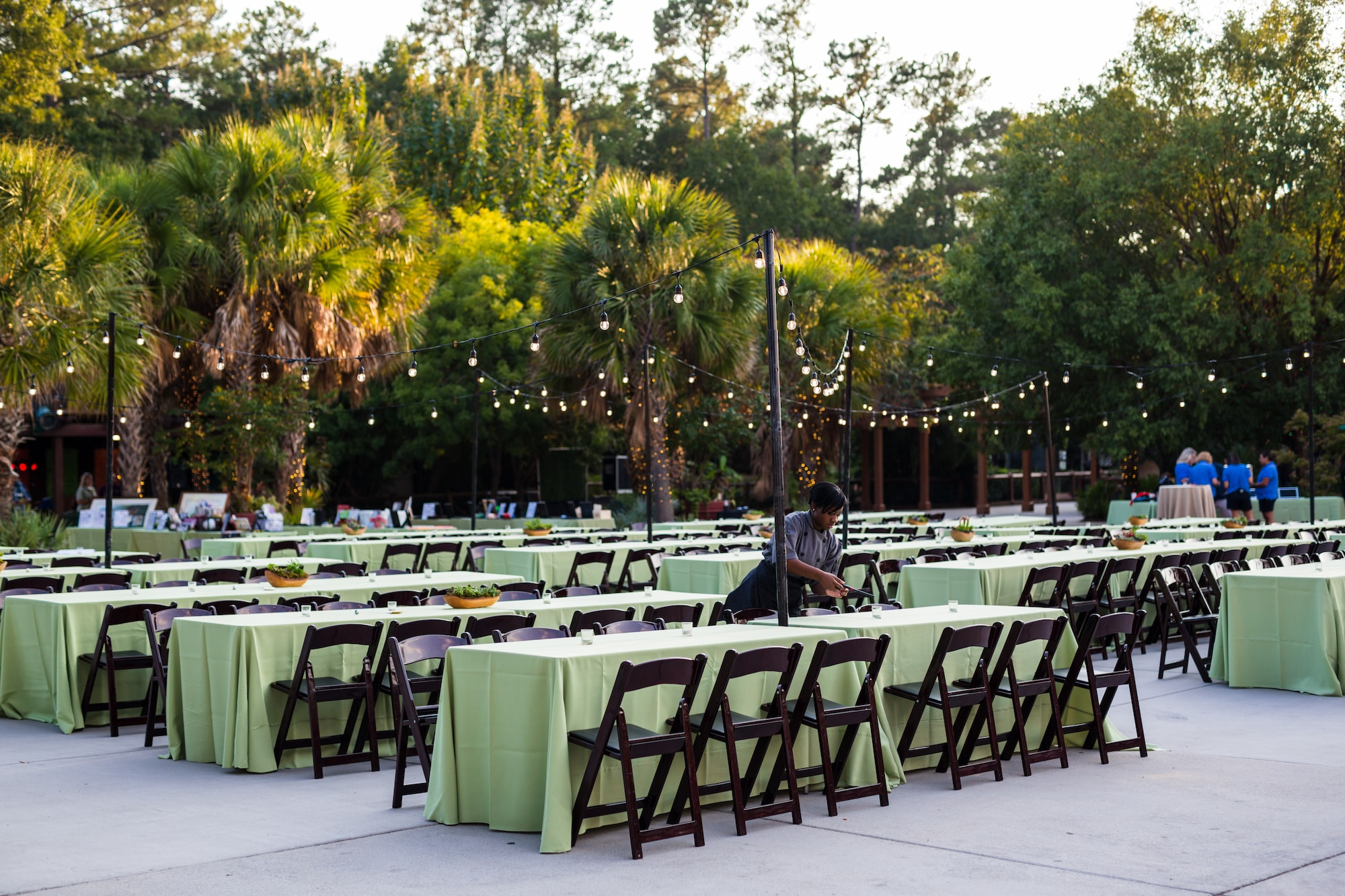Columbia SC Event Venue Outdoor Dining Setup