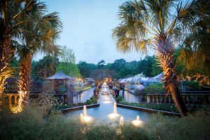 Fountains and Botanical Gardens at the Magnolia Room, a perfect Garden Wedding Venue in Columbia, SC